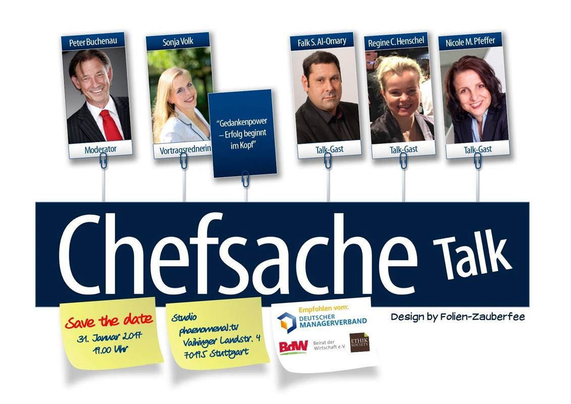 Chefsache Talk am 31.01.2017 in Stuttgart